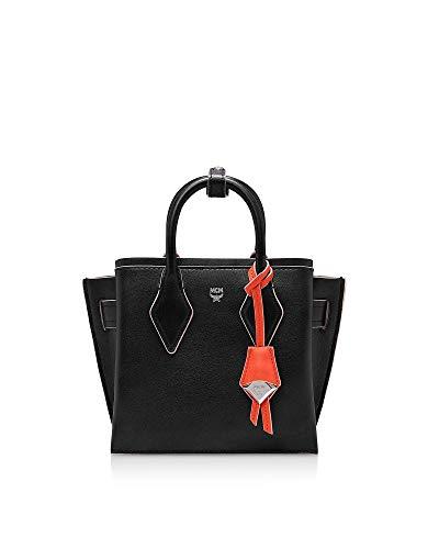 MCM Luxury Fashion Damen MWT9AMA77BK001 Schwarz Leder Handtaschen | Herbst Winter 19