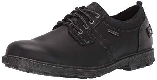Rockport Men's Rugged Bucks II Plaintoe Oxford, Black Leather/Suede, 10 W US
