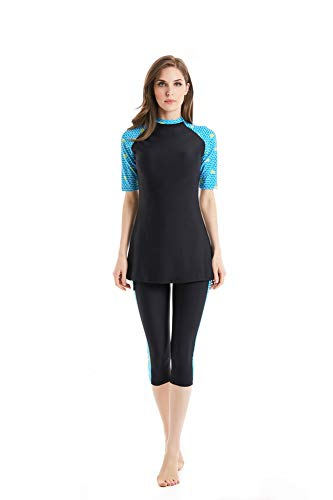 Badebekleidung Modest Muslim Swimwear Bescheiden Bademode Frauen Surfing Suit Muslim Hindu Jüdisch Shorts Badeanzug (N2, XX-Large)
