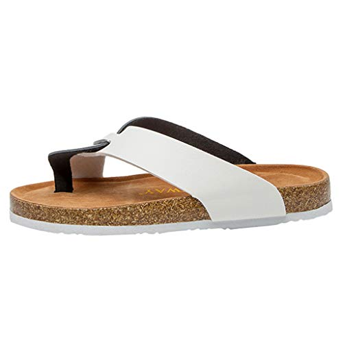 Chanclas de Moda para Mujer Sandalias Unisex Adulto de Corcho TOPKEAL Zapatillas Antideslizantes para Playa de Verano