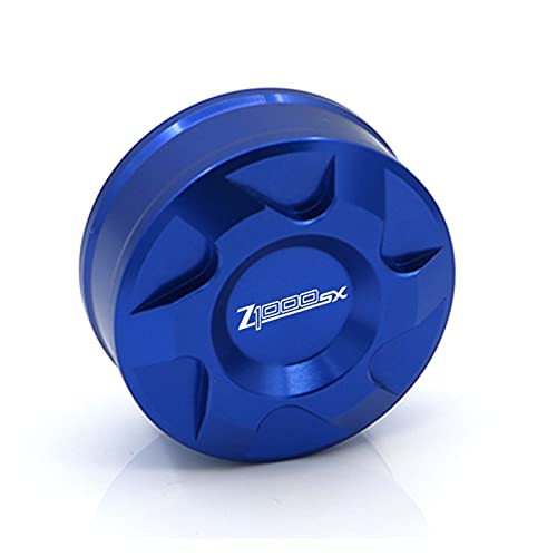 HDDTW Tapas De Gasolina Decorativas Más Calientes para Kawasaki Z1000SX 2011-2019 Serie Motocicleta CNC líquido de Freno Trasero Tapa de Cilindro Maestro Tapa de depósito de líquido (Color : Azul)