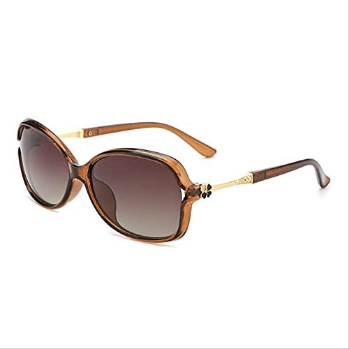 SLIYFJKQLX Gafas Polarizadas para Mujer Uv400 Gafas Protectoras Antirradiación Gafas De Conducción De Moda