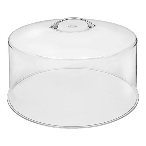 "Chef's Supreme - 12"" Clear Polycarbonate Round Cake Cover, Each"