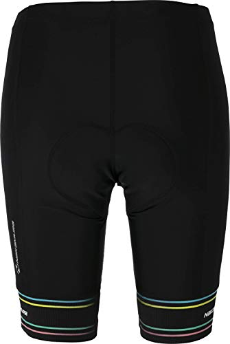 Nakamura Damen Fahrrad-Hose Degna Ii, Black/AOP Stripe, M