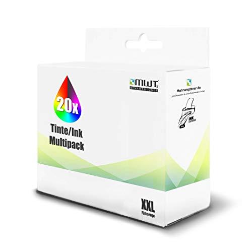 20x MWT Tintenpatronen für Epson Expression Premium XP 510 520 600 605 610 615 620 625 700 710 720 800 810 820 wie T2621 T2632-34 26XL 26 XL Set