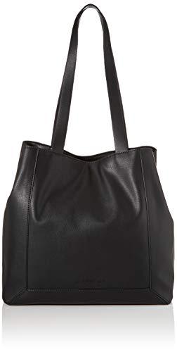 Esprit Accessoires Damen Vala Shopper Schultertasche, Schwarz (Black), 17x33x33,5 cm