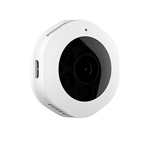 Spy Camera Mini Toezicht van de veiligheid Verborgen Wifi Wireless Camera 1080P HD Night Vision Cloud Storage Micro Monitor for thuisgebruik Indoor Outdoor draagbare (Color : White)