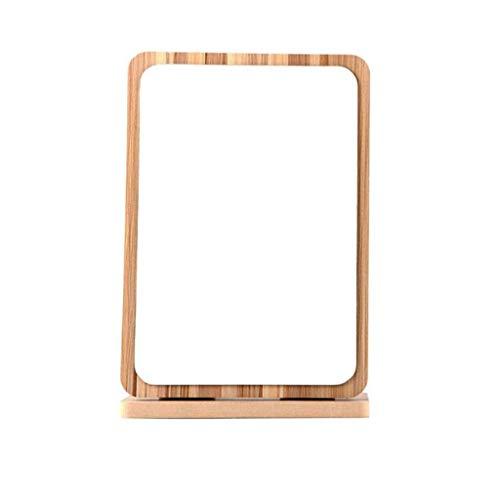 YAMMY Espejo Cuadrado, Espejo de tocador, Espejo, Marco de Madera y Espejo Vertical para Colgar marrón, Espejo Plegable de Madera, Espejo de Escritorio (Espejo)