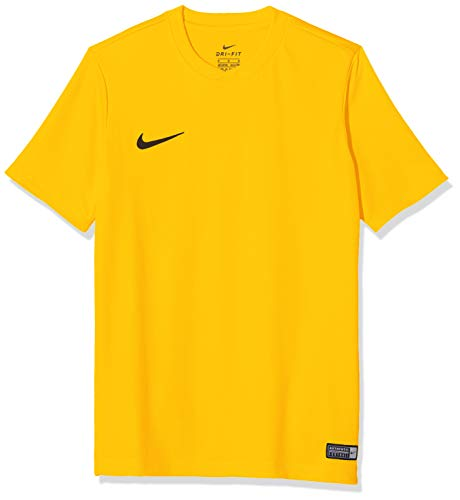 Nike SS YTH Park Vi JSY Short Sleeve Top, Niños, Amarillo (University Gold/Negro), M