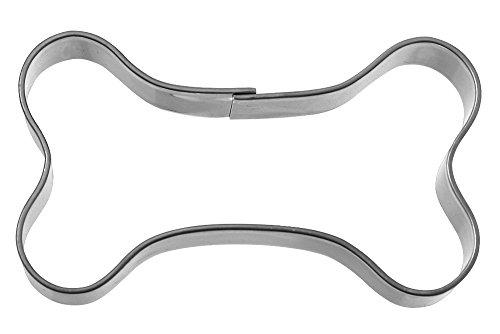 Famous Design Ausstechform Knochen, Edelstahl, Silber, 5.7 x 3.2 x 1.5 cm