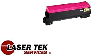 Laser Tek Services ® Magenta Compatible Toner Cartridge for the Kyocera TK-552 TK552 TK-552M TK552M FS-C5200DN FS-C5200
