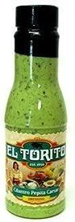 El Torito Cilantro Pepita Caesar Salad Dressing 12oz Bottle (Pack of 3)