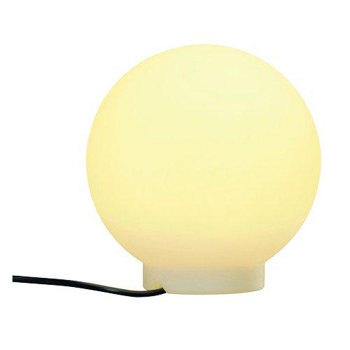 Lampe d'extérieur Roto Balle Floor 25 Lampe boule, blanc, E27, avec fiche, IP44 Classe d'efficacité énergétique : A + + – A