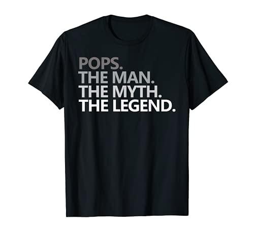 Mens POPS GRANDPA DAD BIRTHDAY Father's Day Funny Men Gift T-Sh