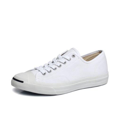 Converse Women's Jack Purcell Cp Canvas Low Top Sneaker,White/White,5.5 B(M) US Women / 4 D(M) US Men