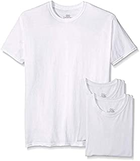 Hanes Big Men's Tagless ComfortSoft Crew Undershirt Tall 3-Pack