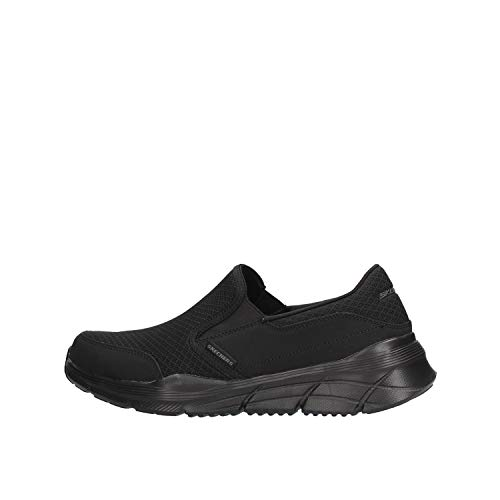 Skechers Equalizer 4.0, Zapatillas Hombre, Negro (Black Mesh/Pu/Black Trim BBK), 43 EU