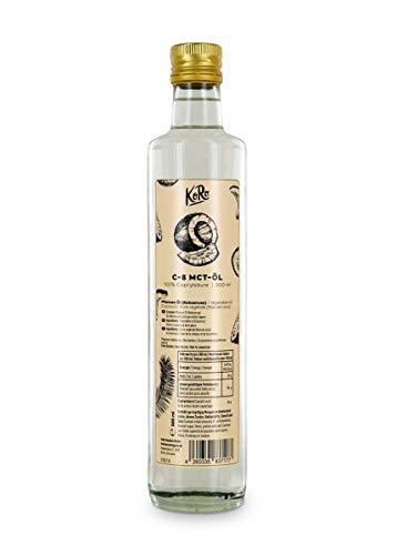 KoRo - C-8 MCT olie 500 ml - 100 % caprylzuur uit kokosolie - Perfecte smaakloze energieleverancier in een glazen fles
