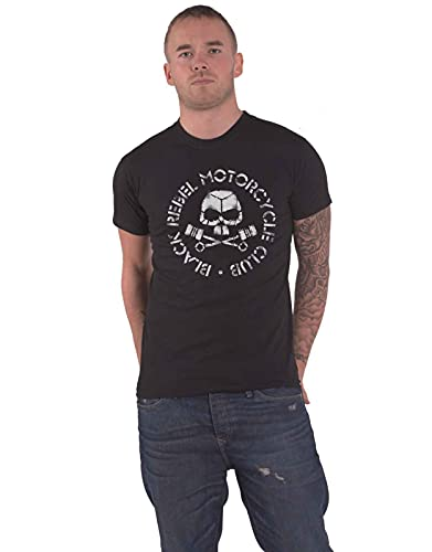 Black Rebel Motorcycle Club Unisex T-Shirt: Piston Skull (Small) - Small - Black - Unisex