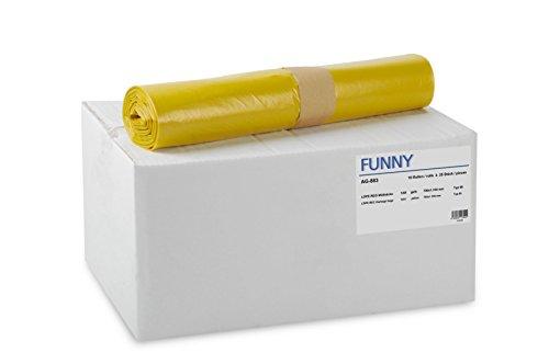 Funny AG-883 - Pack de 250 bolsas de basura
