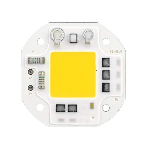 Mumusuki AC220V 50W Integrato Chip Light Source High Bright COB Bead Spotlight Bulb LED Integrato Lampada Sorgente di Luce Accessori 54 * 54 * 1.5mm(Bianco Freddo)