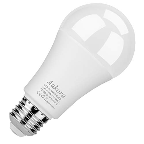 Dusk to Dawn Light Bulb, Security Sensor LED Light Bulb, 12W (100-Watt Equivalent), 6000K, 1000LM, Auto On/Off Led Bulb Outdoor/Indoor for Porch Patio Garden(Cool White, 1 Pack)