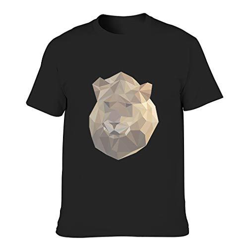 Camiseta de algodón para hombre - Verano ocio negro XL