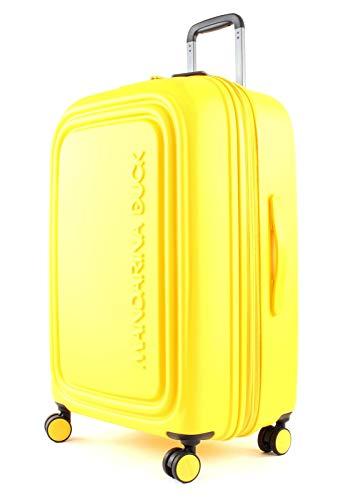 Mandarina Duck Logoduck + M Maleta con 4 ruedas amarillo