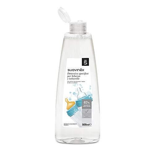 Suavinex - Detergente especial para Biberones y Tetinas Sin Perfume No Deja Residuo , 500 ml (Versión Europea, sin instrucciones en Español)
