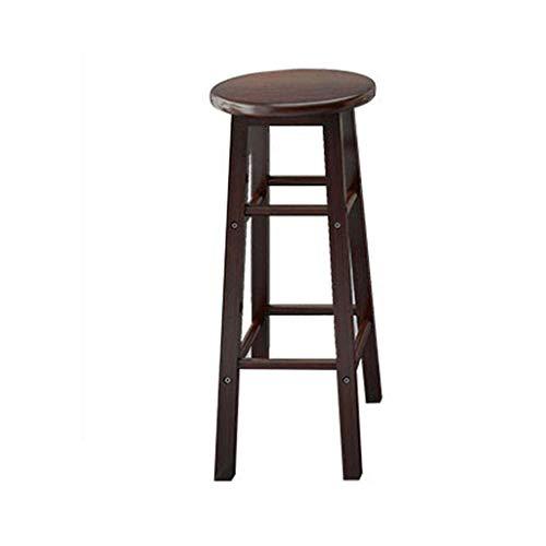 70 / 80cm Sedia da Bar in Legno massello Sgabello Alto Seggiolone Sedia da Pranzo Seggiolone Sedia per Svago Antiscivolo (Colore: Nero, Dimensioni: 70 cm) (Color : Black, Size : 70cm)