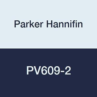 "Parker Hannifin PV609-2 PV Series Brass Plug Valve, 1/8"" Female Thread x 1/8"" Female Thread from Parker Hannifin Corporation"