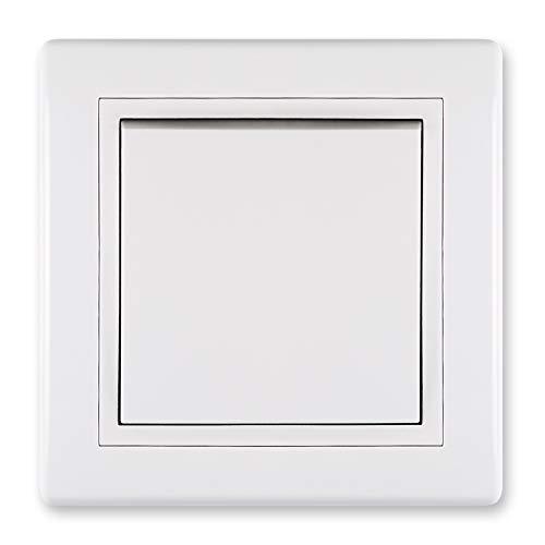 Prestige Line - Interruptor empotrado y regulador de intensidad sin lámpara de luz, color blanco, Blanco
