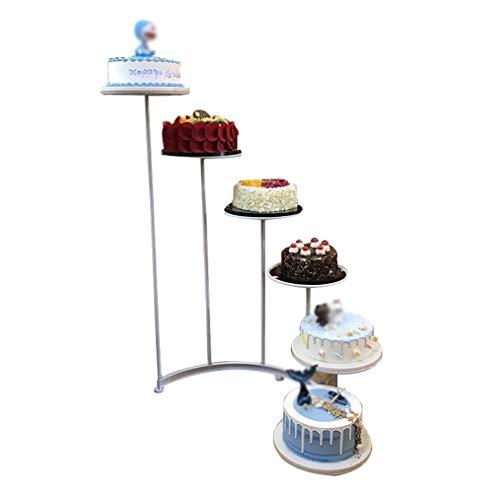 zhicheng shop 6-stufiger Tortenständer aus Eisen, Halbrunder Kuchenständer mit 6 abgestuften runden Arbeitsplatten (10 Zoll), verwendet für Konditoreien, Geburtstagsfeiern, Hochzeiten