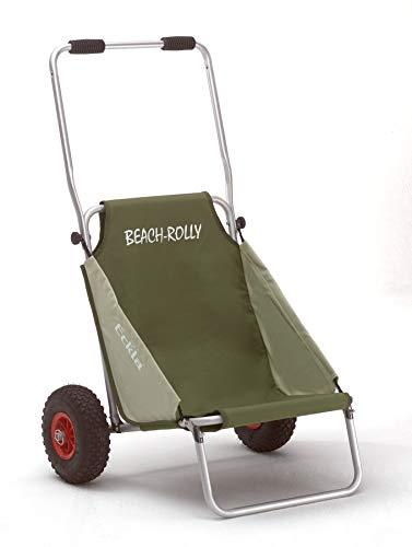 Eckla Beach Rolly ohne Sonnendach, die ideale Transporthilfe (pannensicher Bereift, Olivgrün)