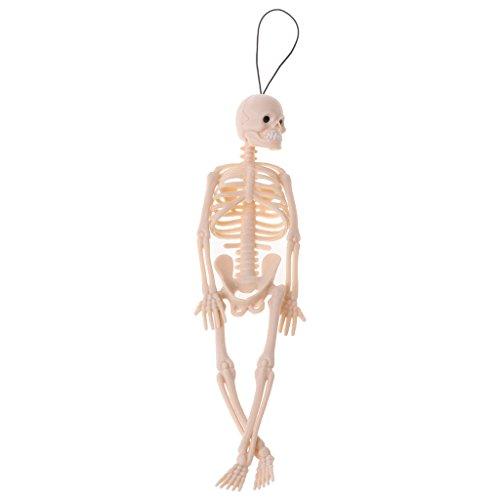 Junlinto, Squelette Humain modèle crâne Complet du Corps Mini Figure Jouet téléphone Cintre Halloween