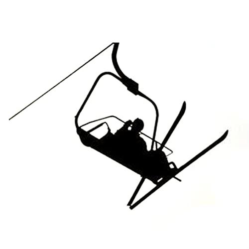 TYUTYU Etiqueta engomada del Coche Moda Interesante de Invierno para Esquiar Deportes Vinilo (Color Name : Black)