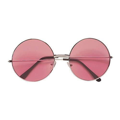 Widmann - Brille 60er / 70er Jahre mit farbigen Gläsern, Hippiebrille, Schlager, Accessoire