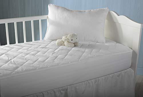 Pikolin Home - Protector/cubre colchón acolchado de cuna con tratamiento antialérgico, impermeable y transpirable con tejido 100% algodón