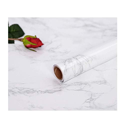 Abyssaly 17.71 X 79 Marble Contact Film Granite Look Effect Contact Paper Decorative Self-Adhesive Film Marble Gloss Vinyl Film Contact Paper for Furniture