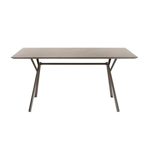 Fast Radice Quadra outdoor tafel, taupe LxBxH 150x90x74cm onderstel taupe