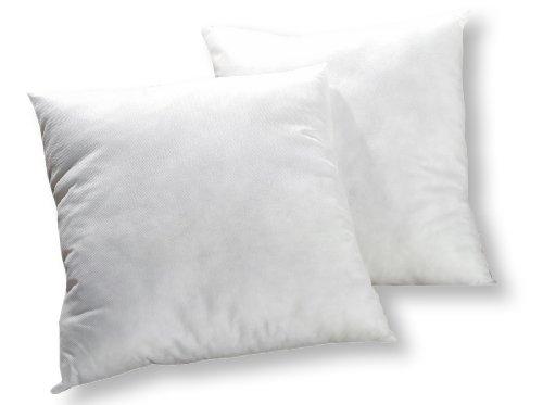 Haus und Deko 2er Pack Füllkissen ca. 35x35 cm Polyester leichte Innenkissen Sofakissen Kissen in Weiß