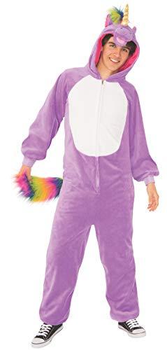 Funny Unisex Adult Purple Unicorn Animal Costume