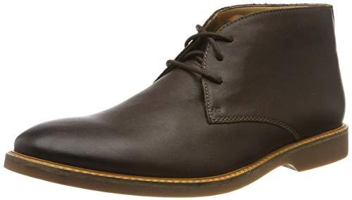 Clarks Herren Atticus Limit Derbys, Braun (Dark Brown Lea Dark Brown Lea), 42 EU