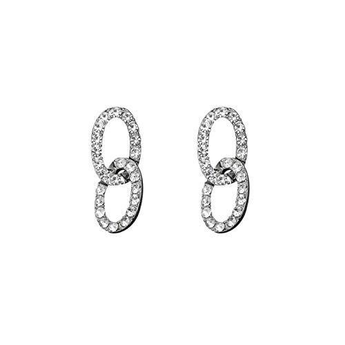 Pendientes De Gota De Mujer - Pendientes De Gota Geométricos De Cadena De Cristal Completa, Joyería Colgante De Diamantes De Imitación Brillante De Moda Con Encanto Femenino, Accesorios De Regalo