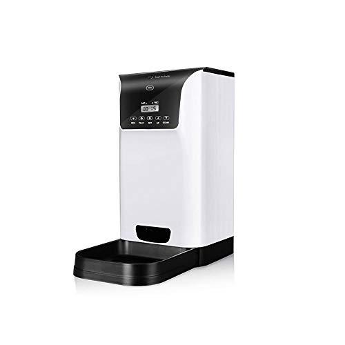 DLINMEI 6 Mahlzeit Auto Pet Feeder Mit Timer Programmierbare, Timing und Quantitative automatische Fütterung Futterautomaten 6L Voice Recorder und Lautsprecher (Farbe: weiß)