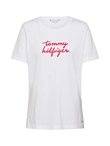 Tommy Hilfiger Donna T-Shirt Bianco Mod. WW0WW26661