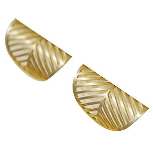 Dice 2 Stück Blattform Messing Schrank Türknauf Antike Möbel Kleiderschrank Griffe Schublade zieht Küchenschrank Gold Griff, Messingfarbe