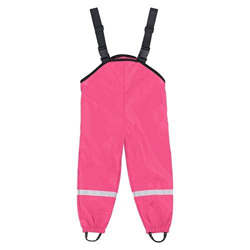 Routinfly Pantalones de lluvia unisex, peto de lluvia, cortavientos e impermeables, transpirables, peto de lluvia, pantalones de senderismo, mono para niñas y niños