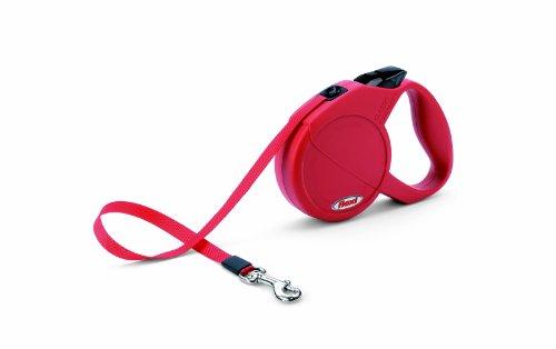 Flexi - Laisse à enrouleur pour chien - Classic Compact rouge (small 5m)ètres