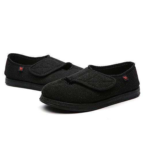 QFYD FDEYL Zapatos ortopédicos quirúrgicos para Mujeres,Widen Zapatos Ajustables para pie diabético-Black_43, Zapatos Diabéticos Respirable